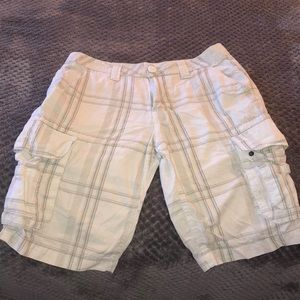 Other - White men's cargo shorts size 29